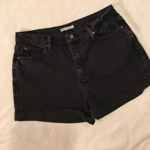 {Lee} black cutoff jean shorts high waisted